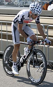 Carlos Sastre Tour 2010 prologue training.jpg