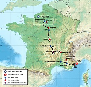 Route of the 2013 Paris–Nice