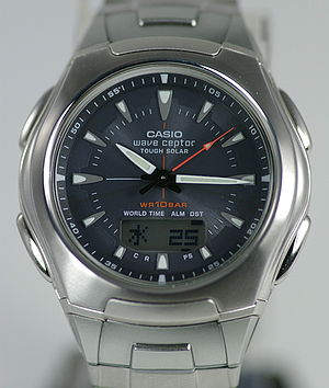 Solar-powered watch - A modern Casio solar-powered watch