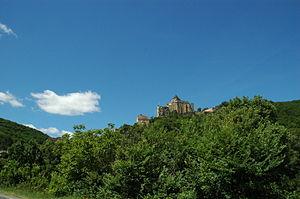 Château de Castelnaud-la-Chapelle - Castelnaud-la-Chapelle seen from below