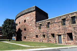 National Register of Historic Places listings in Manhattan on islands - Image: Castle Williams Facade