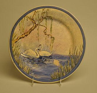 Catalina Pottery - Catalina Pottery painted plate