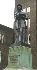 Statue Of Mrs Booth In Forecourt Of William Booth Memorial Training College