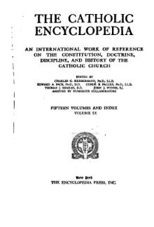 Catholic Encyclopedia, volume 9.djvu