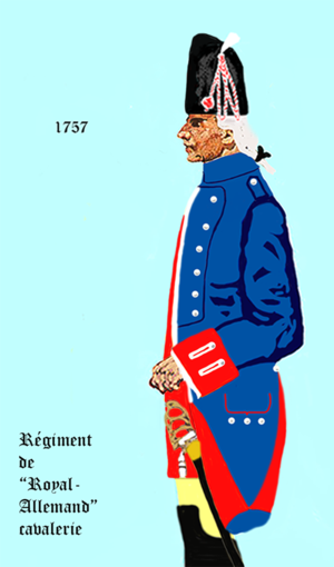Régiment de Royal-Allemand cavalerie - Image: Cav Roy Allemand 1757