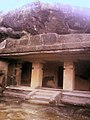 Caves, exteriors, steps, pathways at Kanheri 09.jpg