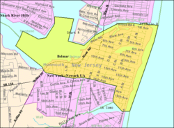 Census Bureau map of Belmar, New Jersey