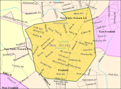 Freehold Nj Map Freehold Borough, New Jersey   Wikipedia Freehold Nj Map