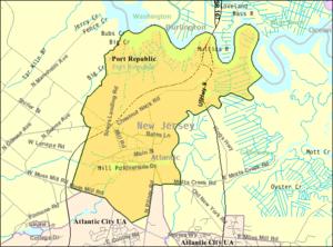 Port Republic, New Jersey - Image: Census Bureau map of Port Republic, New Jersey