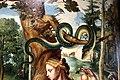 Cerchia di jan van hemessen (forse maestro di paolo e barnaba), cacciata dal paradiso terrestre, 1500-60 ca. 05 serpente.jpg