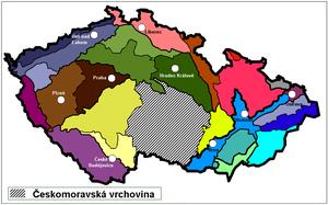 Bohemian-Moravian Highlands - Image: Ceskomoravská vrchovina