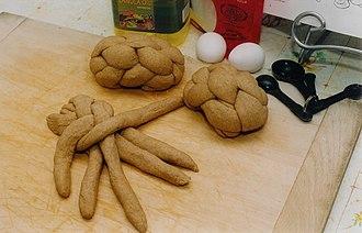 Challah - Preparing braided challah