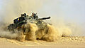 Challenger 2 at speed, Oman, 25-09-2001. MOD 45140649.jpg