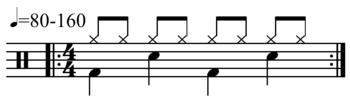 how to add simple drum beat audaciyu