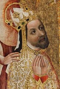 Karel IV. z Votivního obrazu Jana Očka z Vlašimi