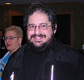 Charles Stross and his New Hair Boskone 2006.jpg