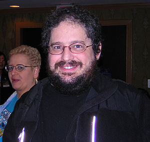 Boskone - Image: Charles Stross and his New Hair Boskone 2006