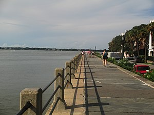 Charleston, South Carolina - The downtown Charleston waterfront on The Battery