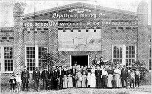 Chatham Manufacturing Company - The second Chatham Mill, built in 1893.
