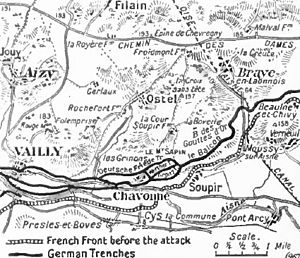 Second Battle of the Aisne - Image: Chavonne defences, 1917