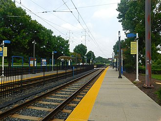 Cherry Hill station (Light RailLink) - Cherry Hill station in August 2018