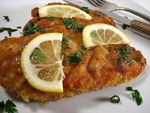 Piccata - Image: Chicken piccata