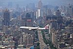 China Airlines Airbus A330-300 (B-18303) on final approach into Taipei Songshan Airport.jpg