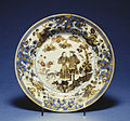 Chinese - Plate with Dutch Couple - Walters 492419.jpg