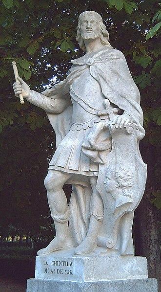 Chintila - A statue of Chintila in the Jardines del Retiro de Madrid.
