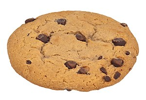 English: A chocolate chip cookie. This is from...