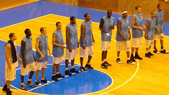 Chorale Roanne Basket - The 2007-08 team before a match with Fenerbahçe Ülker.