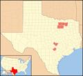 Chorioactis geaster distribution Texas.png