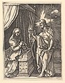 Christ appearing to Mary who is kneeling in prayer, after Dürer MET DP820334.jpg