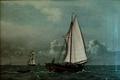 Christoffer Wilhelm Eckersberg - En Jagt med Passagerer, sejlende for Vinden - 1831.png