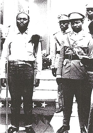 Christophe Gbenye - Image: Christophe Gbenye as President of the People's Republic of the Congo with General Nicholas Olenga