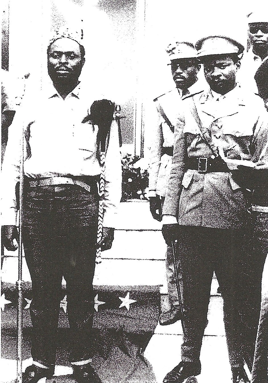 Christophe Gbenye as President of the People's Republic of the Congo with General Nicholas Olenga