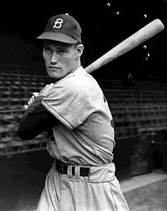 Connors con l'uniforme dei Brooklyn Dodgers