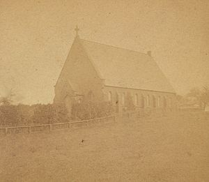 Warren, Rhode Island - Church at Warren, middle- to late-19th Century