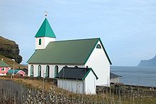 Church of Gjógv, Faroe Islands.JPG