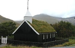 Church of Hvalvík, Faroe Islands.JPG