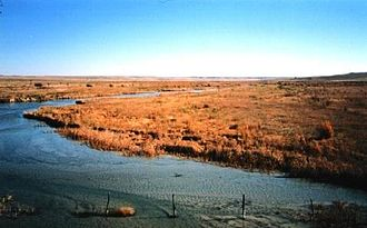 Cimarron River (Arkansas River tributary) - The Cimarron River, near Forgan, Oklahoma