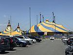 Cirque du Soleil tent at Skygate, Brisbane Airport 2016.jpg