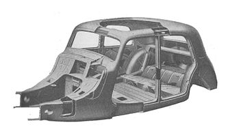 Firewall (engine) - Cutaway drawing of the 1934 Citroen, showing the firewall