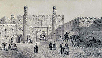 Ottoman–Persian War (1743–46) - Image: City Gate , Tabriz by Eugène Flandin