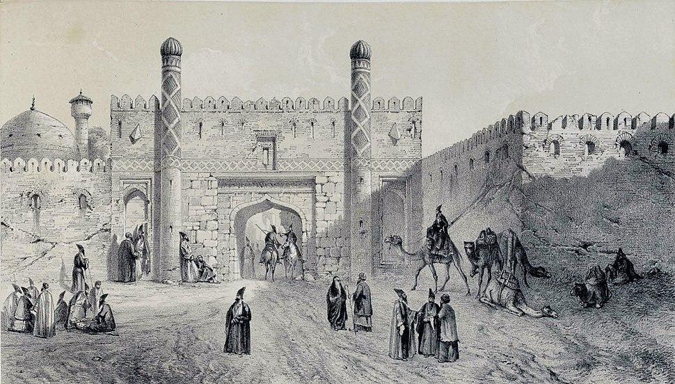 City Gate , Tabriz by Eugène Flandin
