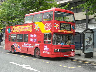 City Sightseeing - Leyland Olympian in Manchester in September 2008