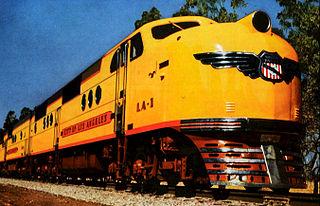 EMC E2 model of 1800 hp American passenger cab diesel locomotive