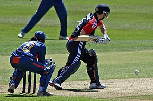 Claire Taylor - Taylor batting against India in 2011.