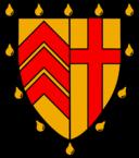 Clare College heraldic shield