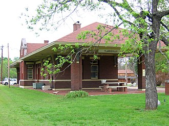 Clarksville, Arkansas - Old train station in Clarksville